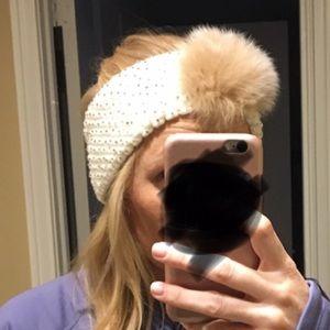 Accessories - NWOT real fur headband/ear warmer